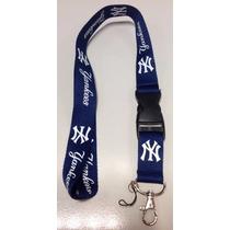 Lanyard Porta Identificación, Llavero Usb New York Yankees