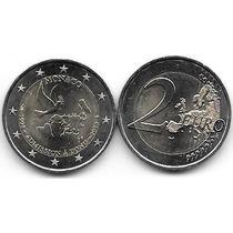Moneda Monaco Bimetalica 2 Euro Año 2013 Naciones Unidas