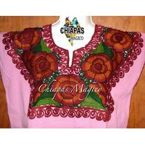Blusa Bordada A Máquina. Modelo Zinacantán, Chiapas. (med)