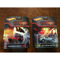 Set 2 Hot Wheels Need For Speed Retro Mustang Y Koen Agera R