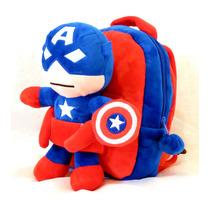 Mochila Capitán América Con Peluche Desmontable Avengers