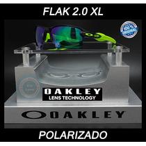 Oakley Flak 2.0 Xl Black Ink - Jade Iridium Polarized 9188