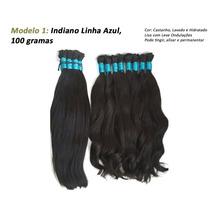 Cabelos Humano Natural 60cm 100g Mega Hair Liso E Cacheado