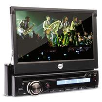 Dvd Retratil 7 Polegadas Touch Usb Controle Mp3 Am Fm