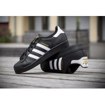 Adidas Superstar 2 Negro/blanco/oro (bolsa De Tienda+envio)