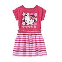 Vestido Hello Kitty. Talle 4/5 Años. Nuevo Con Etiqueta