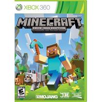 Jogo Minecraft Xbox 360 Minecraft 360 Mídia Física Original
