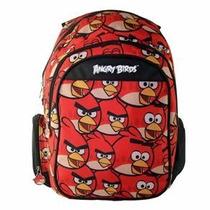 Mochila Escolar Angry Birds Notebook Santino Vermelho