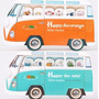 Anotador Original Post It Autobus Con Animales Niños Adultos