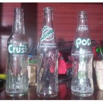 Garrafas Antigas Refrigerante Crush, Mirinda, Pop, Gini