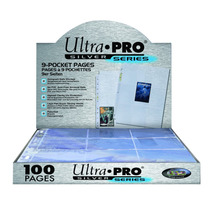 Ultra Pro 9-pocket Silver Series Page For Standard Size 100c