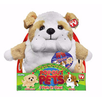 Mascotas Peluche Pop Out Pets 3 En 1 Reversible Tv