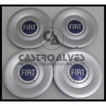 Kit Calota Tampa Miolo Roda Fiat Stilo Idea Aro 15/16- 4 Pçs
