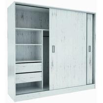 Placard Ropero Puertas Corredizas 1.82 Aluminio C/guía Suave