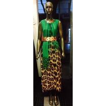 Vestido Casual De Gasa Estampado Muy Fresco Y Elegante