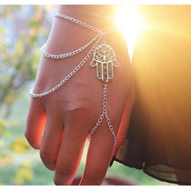 Hand Chain Amuleto Mão Hamsa Contra Mau Olhado