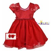Vestido De Festa Infantil Luxo Tamanhos 04 Ao 12 Com Tiara