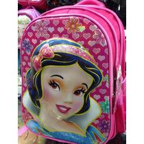 Morral Bolso Escolar 5d Niñas Frozen Princesas Sofia