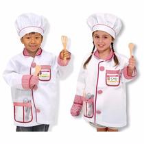 Disfraz De Chef Cocinero Para Niños Accesorios Incluidos