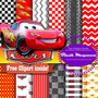 Kit Imprimible Pack Fondos Cars 2 Clipart