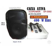 Cx.ecopower 12 Pol.800w Usb Bateria Rodinhas +1000 Musicas