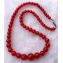 Collar De Jade Rojo Con Broche De Plata 294 Quilates