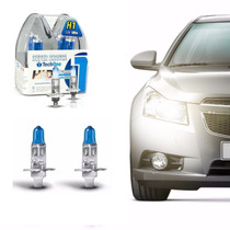 Kit Par Lampadas Super Branca Tipo Xenon 8500k H1 100w 12v