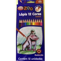 Lápis De Cor Com 12 Unidades Zôo Kit Com 12 Caixas