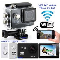 Câmera Sports Cam Esportiva Filmadora Prova Dágua Wifi X4000