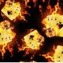 Llamas - F05 - Fuego con Cartas - Ancho 0,50m