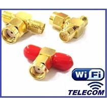 Conector Splitter Divisor De Señal Rp-sma Para Antenas Wifi!