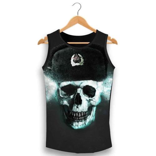 Regata Caveira War Comunista Ghost Soldier Skull Yd55 - R  39 64953aab183
