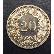 Swi189 Moneda Suiza 20 Rappen 1983 Unc-bu Ayff
