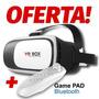 Lentes Vr Box Cardboard + Control Bluetooth 3d Gratis Regalo
