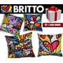 Kit Almofadas Decorativas Romero Britto 4pç + Super Brinde!!