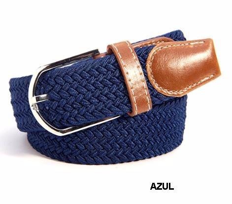 Cinturon Azul Elastico Hombre Trenzado Expandible -   49.900 en Mercado  Libre 20b24e39698a