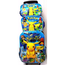 Kit Mochila Pokemon Rodinha Escolar Infantil + Brinde