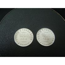 Lote De 02 Moedas Em Prata 1000 Réis 1907 E 1911