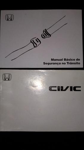 manual do proprietario honda civic 2003 04 r 170 00 em mercado livre rh produto mercadolivre com br