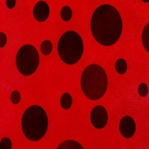 Tnt Estampado - Decorado - 10mts - Poa Vermelho Com Preto