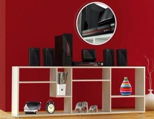 Mesa para tv mueble nuevo de aglomerado de madera for Mueble tv blanco y madera