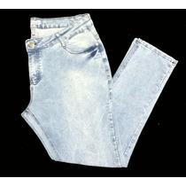 Calça Feminina Jeans Plus Size Saldo Peq Defeito 50 52 54 56