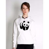 Moletom Feminino Panda Blusa De Frio Casaco Promoção!