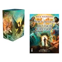 Kit Livros Box Percy Jackson + Os Deuses Gregos (6 Livros) #
