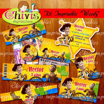 Kit Vaquero Wody Chivic Cumpleaños Invitaciones Tarjeta Baby