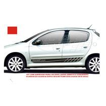 Adesivos Faixas Laterais Peugeot 206 207 Sw 4 P Acessórios