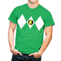 Playera Hombre Con Diseño Power Ranger Green Varias Tallas