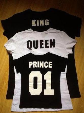 4e66aa684c5e9 Playeras King Queen Prince -   400.00 en Mercado Libre