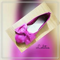 Chatas Moño Cuero Balerinas Chatitas Zapatos Sandalias Diseñ
