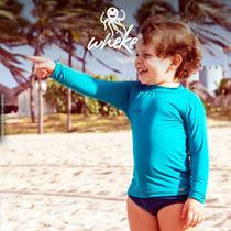 Camisa Infantil Com Proteção Solar Uv Fps50+ Praia Wheke
